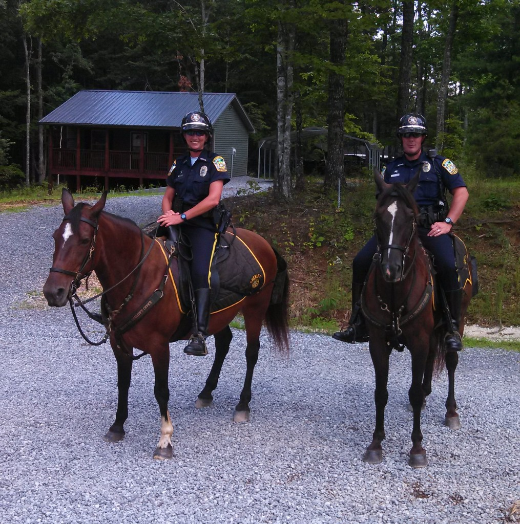 Blount County's Finest Patrol on Horseback.